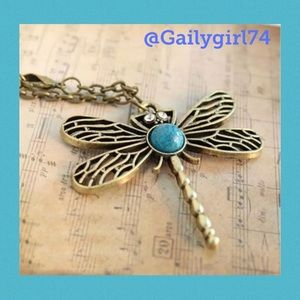 Jewelry - Cute Brass Dragonfly Necklace